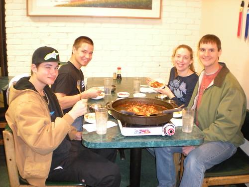 Marcus, Nick, Clare, Dennis @ Han Kang Korean BBQ