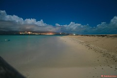 Caret By Night (bakariu) Tags: sea mer beach night sable plage guadeloupe gwada longexposur bakariu