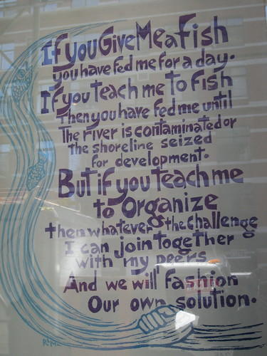 But if you teach me to organize...