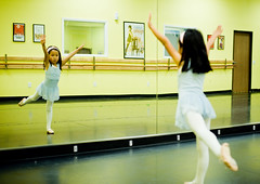 Practice makes perfect (arkworld) Tags: ballet jessie mirror nikon balletclass 50mmf14d nikond3 public4now