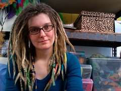 Me in my studio.. (Gravitational Wool) Tags: dreadlocks hoop photobooth dancing hula hoops dreads hooping dreadhead