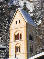 Campanile in bianco  -  White bell tower (Cristina 63) Tags: italy white snow europa europe italia churches brenner neve bianco brennero altoadige southtyrol suedtirol belltowers campanili chiese holidays2008 vacanze2008