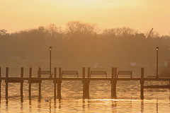 IMG_8019 (Five eyes) Tags: wood light sunset sky sun lake water silhouette evening march dock natural 2009 macatawa 8019