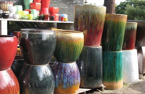 earthenware-looking containers