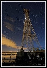Celestial Spin, The Kincardine Pylons and Clackmannanshire Bridge (David Hannah) Tags: bridge water night river dark stars lights star scotland shadows searchthebest mud fife pylon forth needles ned kincardine piles startrails buckfast Astrometrydotnet:status=failed celestialspin thekincardinepylonsandclackmannanshirebridge johnnybag Astrometrydotnet:id=alpha20090332024026