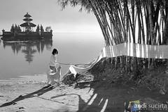 Best friend (andibali) Tags: lake animal children photo friendship bamboo beratan tabanan