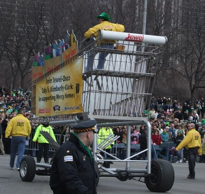 St Patricks Day Parade Cart