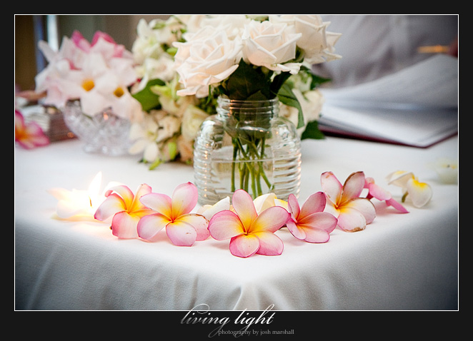 Table decorations. Wedding photography from Tea Gardens.