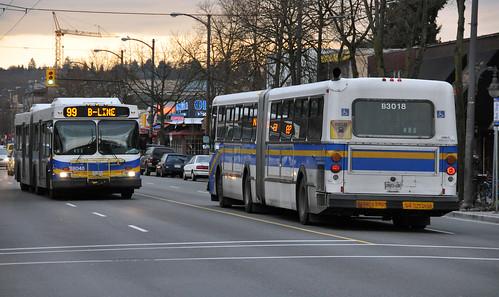 TransLinks CMBC D60LF D60HF On Broadway As 99 Station UBC B