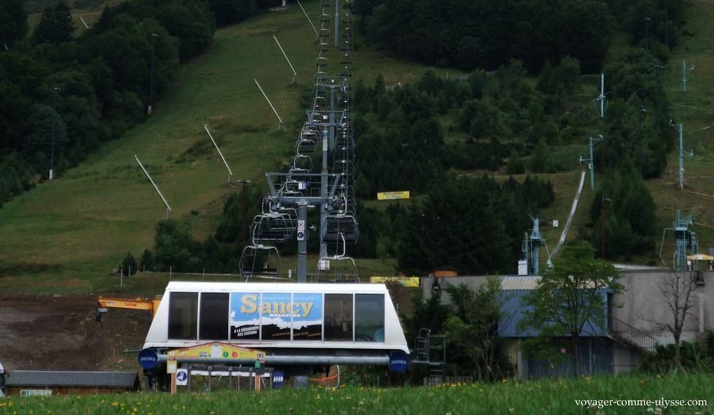 Os teleféricos vazios no Verão, desfigurando a paisagem
