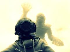 PANIC (8 Skeins of Danger) Tags: creaturefromtheblacklagoon deepseadiver madelman 8skeinsofdanger