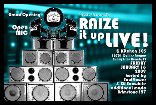 Raize it up LIVE Flyer