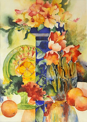 Happy Norouz (my paintings) Tags: new flowers flower color detail art watercolor painting persian artist iran persia iranian گل رنگ هنر نقاشی aliehs alieh