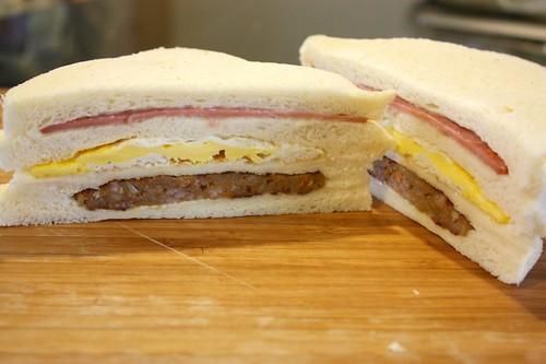 複製台式早餐三明治