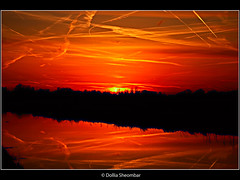 Blood in the Sky (Part1) - Schiedam (DolliaSH) Tags: light sunset red sky sun holland color sol colors dutch photoshop sunrise canon landscape atardecer photography eos lights soleil photo zonsondergang europe tramonto colours foto sonnenuntergang photos nederland thenetherlands paisaje sole sonne efs 1022 coucherdesoleil schiedam puestadelsol zuidholland 1755 cs4 zakat middendelfland southholland 1755mm 50d eos50d canon50d solntse skyascanvas dollia dollias sheombar skycloudssunni