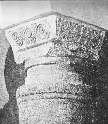 Capitel visigótico de la iglesia de San Sebastián de Toledo a finales del siglo XIX