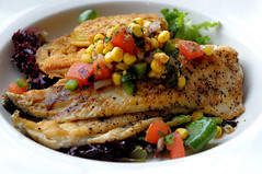 Pan-Seared Rainbow Trout at City Hall Diner
