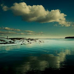 Conditionally Green (Olli Kekäläinen) Tags: sea sky seascape color reflection green water clouds photoshop suomi finland square helsinki nikon scenery 100v10f images 2009 gettyimages lauttasaari d300 themoulinrouge artcafe 500x500 ok6 ollik 100commentgroup artistictreasurechest 20090331