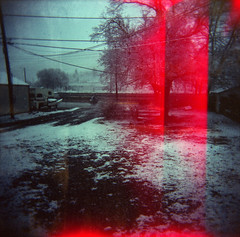 Blood and Snow (b1ackessej) Tags: film holga fuji colorflash 220 holga120cfn plasticlens 120cfn colornegative iso160 fujinps160 mediumformatfilm