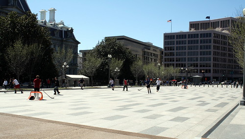 Pennsylvania Ave. Street Hockey Game