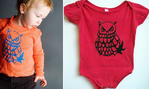 baby owl tees