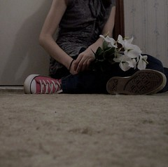 Here (BREananicOLE) Tags: flowers love shoes converse chucks chucktaylors strictlypinkconverse shoesandflowers