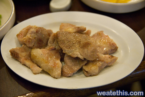 Woo Ga Chon - Korean BBQ Restaurant - Cooked Meat