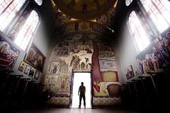 Standing in the light of god (Gilad Benari) Tags: light man art church silhouette print poster israel different expression belief holly kineret  tiberias greekorthodoxchurch orthodoxchurch hollyland   lightofgod giladbenari  standinginthelight hollyplaces hollyplace      kefarnahum top20travelpix  kefarnahumgreekorthodoxchurch
