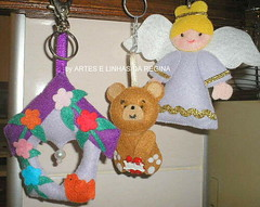 Chaveiros (Regina H Oliveira) Tags: de feltro chaveiros