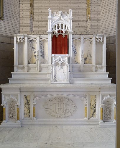 Former Daughters of Charity chapel, at the University of Missouri - Saint Louis, in Normandy, Missouri, USA - high altar