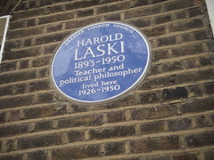 Photo of Harold Laski blue plaque