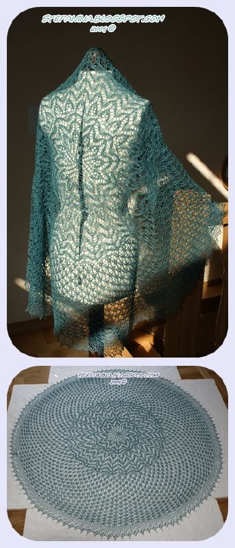 cherry Blossom shawl - finished-vert