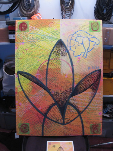 Sharpie Writing On Lotus Painting