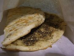 Zaatar pita - Kamils Kebabs, Melbourne Central...