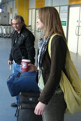 meeting courtney at the airport