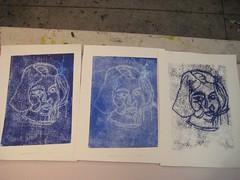 Three prints together