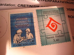 day3 001 (paperfawn) Tags: suomi finland teeth dental stamp cretinism
