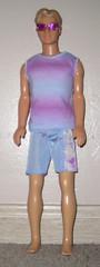 Ken (adamy323) Tags: blue boy party male beach swim toy doll pretty purple ken barbie shorts trunks swimsuit
