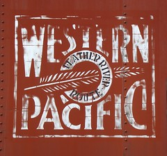"""Feather River Route"" (El Cobrador) Tags: railroad logo boxcar insignia wp westernpacific"