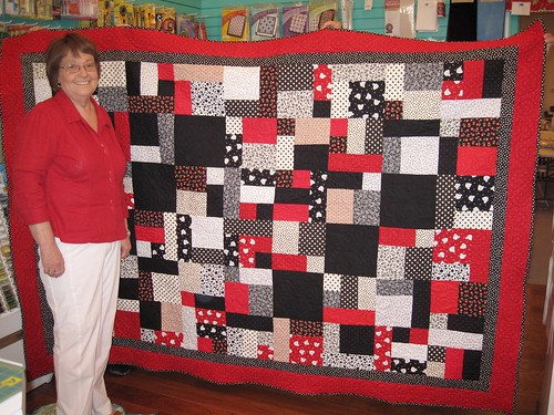 linda's first big quilt
