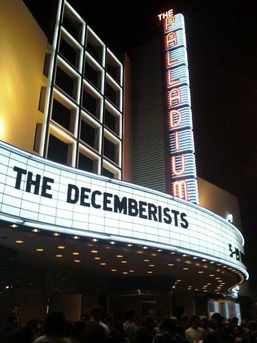 Decemberists Palladium Sign