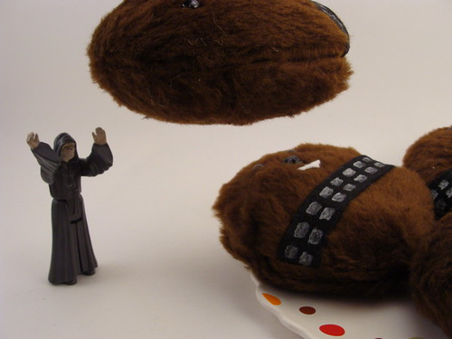 The emperor using the force to steal a Wookie Cookie