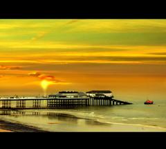 (digitalpsam) Tags: uk sunset sea england sky art beautiful wonderful spectacular boat norfolk dream surreal serene cromer freedancephotographers sammatta
