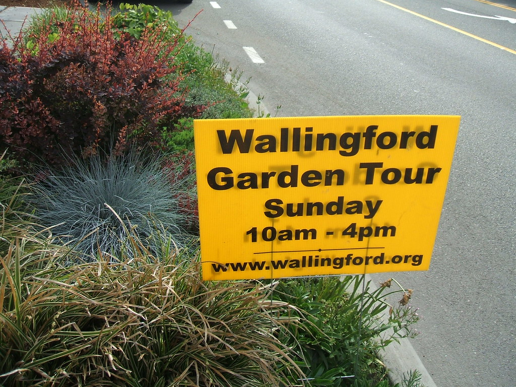 Wallingford Garden Tour sign