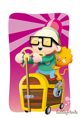 jewel case riders (bubblefriends) Tags: pink illustration glasses driving vector jewelcase bubblefriends