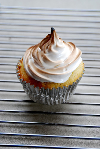 Lemon Meringue Cupcake, toasted