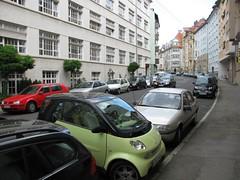 parked smart car