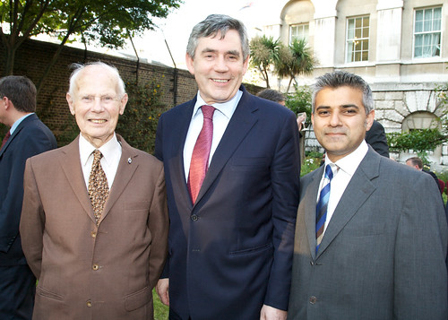 Me with local veteran Cyril Moisey and the Prime Minister