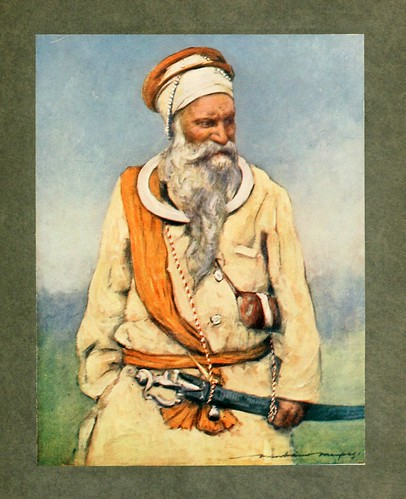 002-Un guerrero Sikh-The people of India 1910
