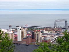 Above Duluth (MSPdude) Tags: above bridge lake minnesota canon canal lift superior aerial powershot highrise duluth skylineparkway s5is